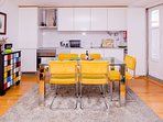 Spacious and bright open kitchen