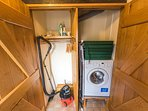 Utility cupboard with washer/dryer and coat storage