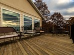 You will love the large deck on the front of the house. It provides amazing panoramic views!