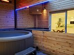 Outdoor Hot Tub with heaters