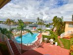 Studio apartment balcony view -  directly on the Intra Coastal and direct sunset views