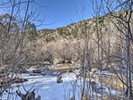 You'll be just steps from the Jemez River.
