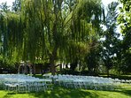 Seating for wedding was rented in Riggins.
