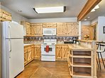 Family-favorite recipes are waiting to be cooked in the fully equipped kitchen.