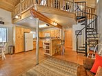 This cabin features 1,000 square feet of well-appointed living space.