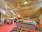 Up to 4 travelers can sleep comfortably in the upstairs loft.