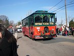 Enjoy a ride on our Town Trolley!  Theres a stop right in front of our cottage!