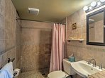 Rinse off the sand and sunscreen in the walk-in shower.