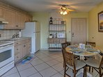 The well equipped kitchen has everything you'll need to cook with ease.