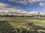 Show off your skills on the luxury tennis courts.