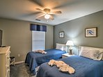 Youngsters in the group can claim this third bedroom with 2 twin beds.
