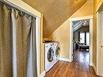 Pack light and take advantage of the in-unit laundry machines.