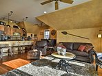 Discover the natural beauty of Bozeman from this rustic vacation rental.