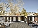 The Bridger Mountains paint the backdrop for your private balcony.