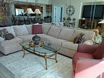Sectional sofa, ample seating