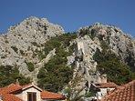 Castle of Omis, viewed from Croatian Beavh House