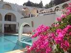 Pool, terraces, arches