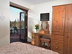 Enjoy the views from the downstairs double room