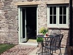 Two private terraces,one on each side of the cottage,ensuring sunshine throughout the day