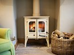 Relax in front of the woodburner