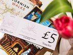 All our bookings receive a £5 token to spend in our bookshop below.