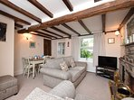 Cosy lounge with beams