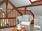 Cosy reading area within the eaves