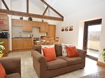 Plenty of character with exposed beams