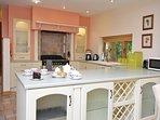 Stylish kitchen with range cooker