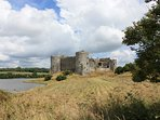 Carew Castle and mill pond is just down the road