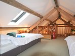 1 twin mezzanine with low beams,en-suite shower room with WC,accessed from the lounge