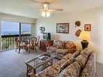Kona Mansions #C305 - Living room and lanai