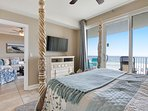 Twin Palms 404-Master Bedroom with a view of the gulf