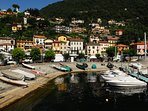 The quaint porticciolo (small port) of Argegno