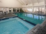 Indoor pools with lounge area
