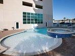 Community pool and hot tub