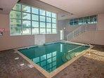 Heated indoor pool area