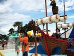 Waterpark play area with pirate ship - 5.3 miles away