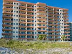 The Enclave Condominiums from the beach