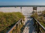 Walkway to beach and Gulf