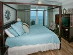 Master bedroom with sliding glass door to Gulf-front balcony