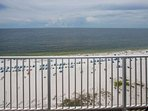View of beach and Gulf from private balcony