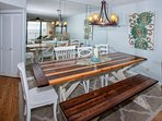 Dining table with seating for 7