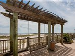 Pergola with swing overlooking the Gulf