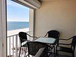 Al fresco dining overlooking beach and Gulf