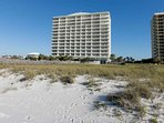 Tidewater Condominiums from the beach