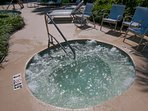 Hot tub at pool area