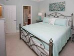 Guest bedroom with king bed, ensuite bath