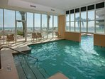 Indoor/outdoor community pool