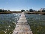 Long boardwalk to boat house